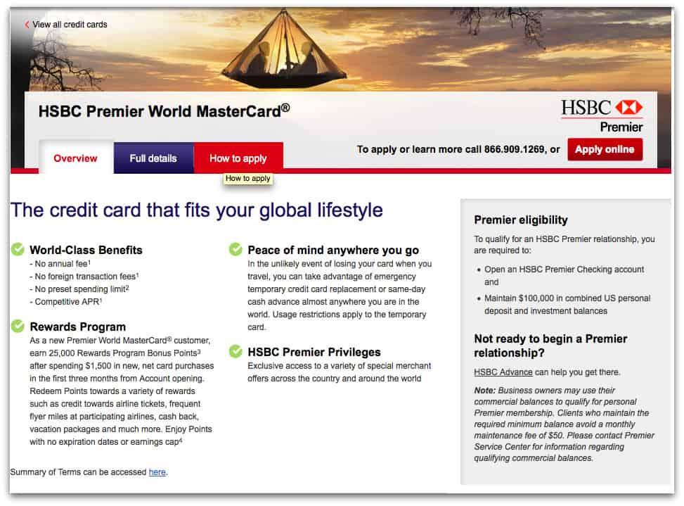 HSBC Premier 核發世界卡,相對其他新手卡有較好的 Perk