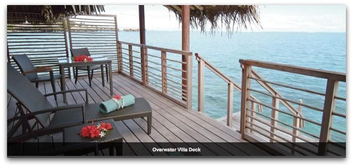 Chase IHG 這張卡把很多玩家帶到了大溪地 Bora Bora。圖片為標準房可換到的水上屋,房間陽台直通海洋(圖片取自官網)