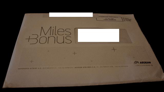 Miles + Bonus 寄會員卡的包裝