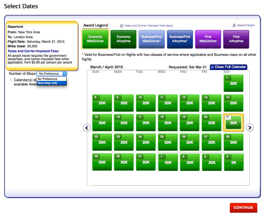 顯示一個月內符合條件之經濟艙機票