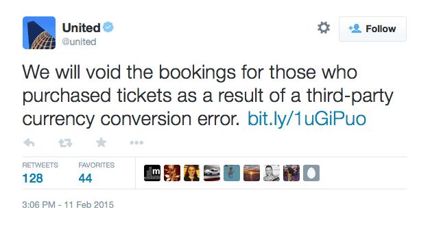 UA在Twitter發佈訊息,也在官網公告相關消息
