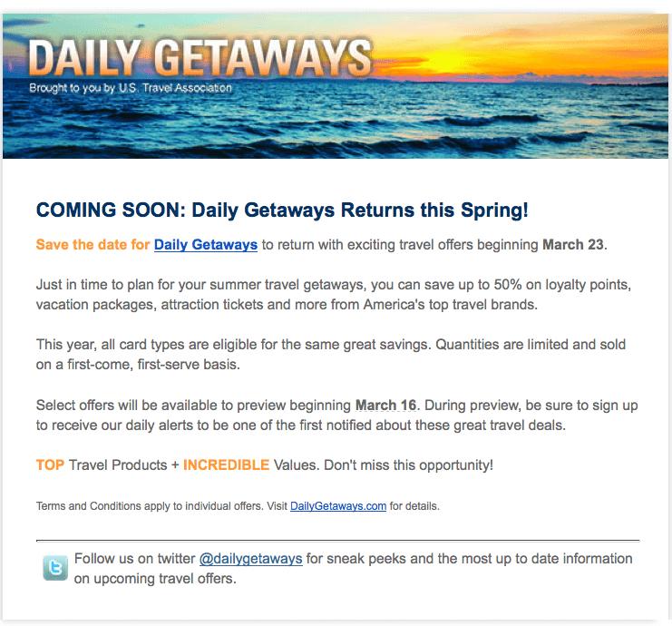 躺在研究生信箱的大消息:Daily Getaway要提早開跑啦!