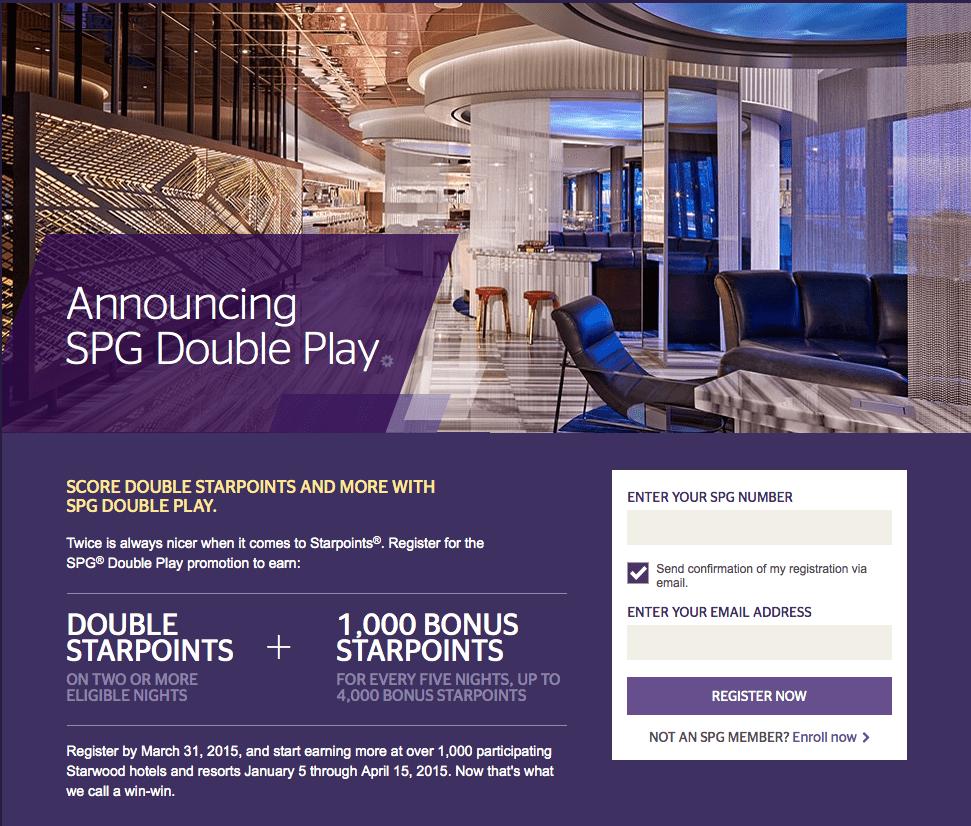SPG 2015年第一季促銷活動「Double Play」