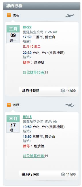 如果在長榮官網購票可以在選好價格和飛機後看到訂位艙等。圖中艙等為 H。若是旅行社訂票可以直接詢問訂位艙等。