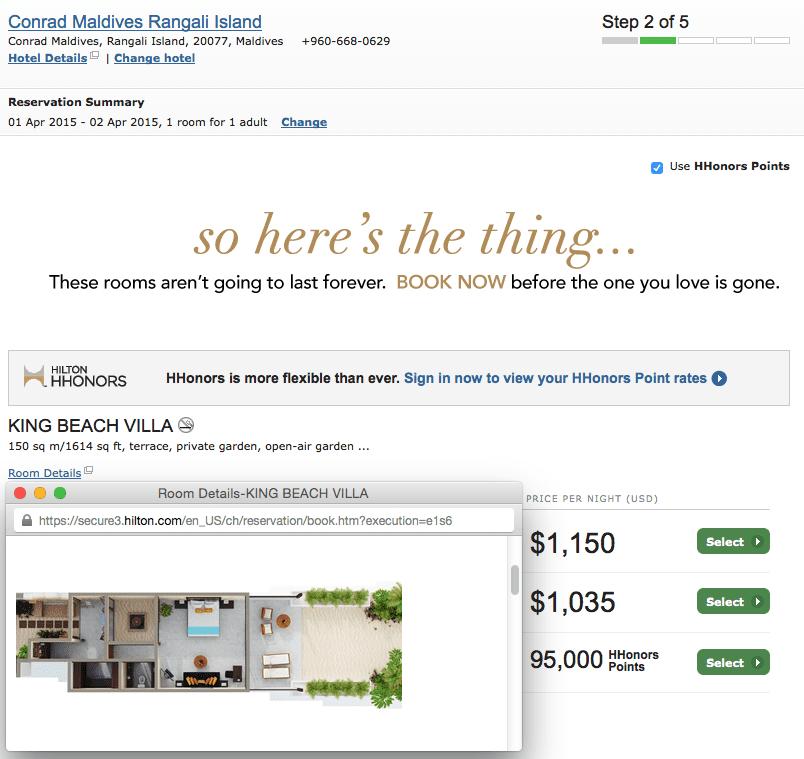 每晚含稅價超過 $1,300 的馬爾地夫 Conrad,即便基本房不是水上屋,依然誘人