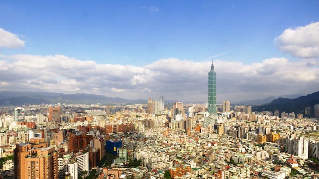 台北遠企38樓馬可波羅lounge  所看出去的台北風景