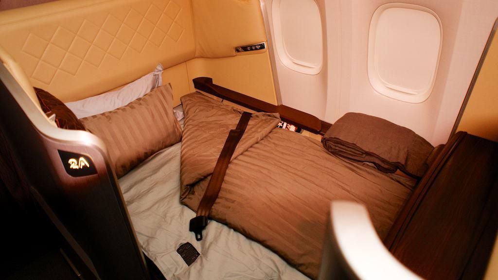 新航新一代頭等艙的夜床服務