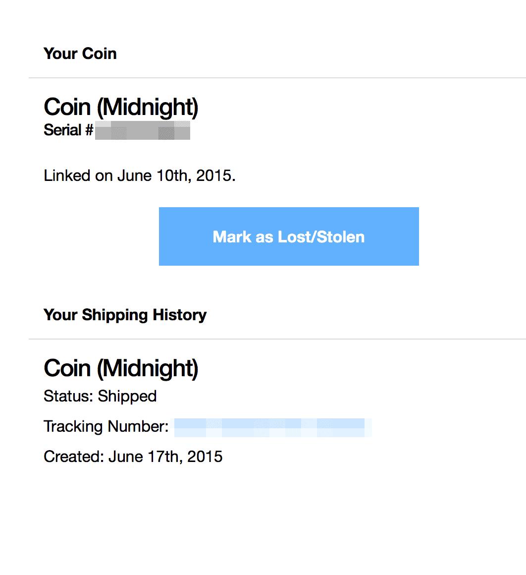 Coin 出貨前,研究生就收到準備出貨通知
