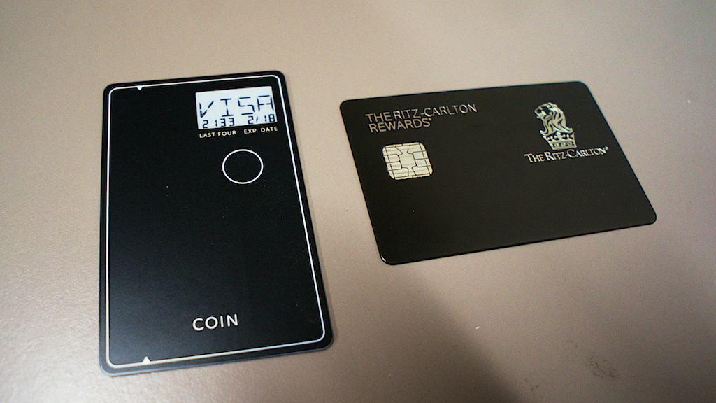 選擇 Coin 到希望使用的信用卡。圖中顯示的是 Ritz Carlton連名卡