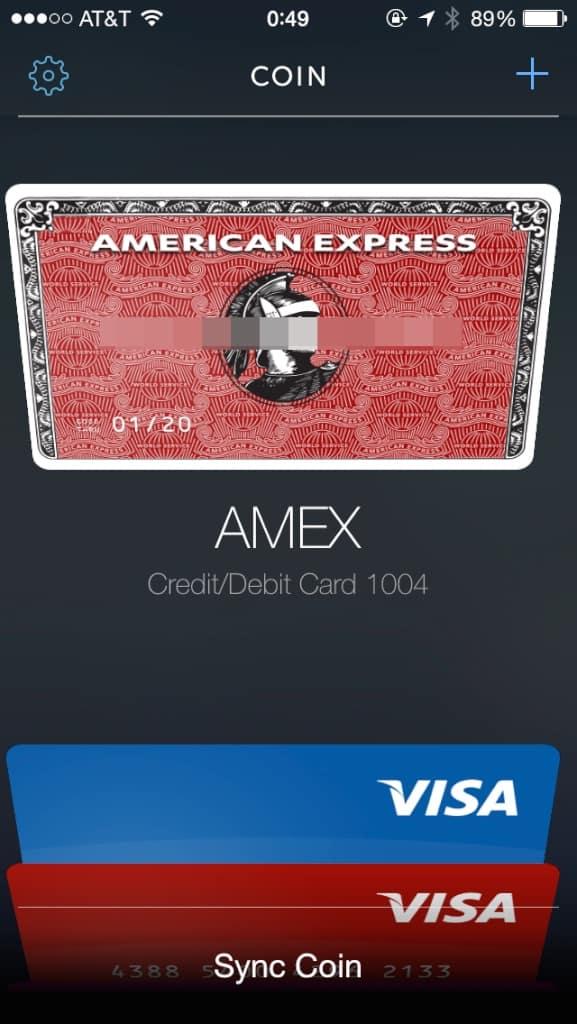 Coin可以在手機 App上存入的卡片沒有限制,但是只能同步八張到卡片上