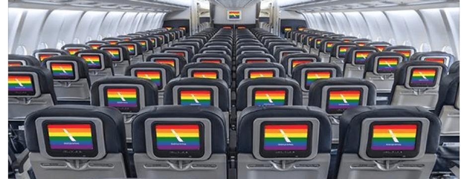 截圖自美國航空臉書網頁