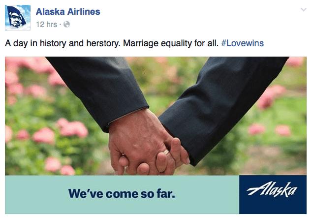 截圖自阿拉斯加航空臉書