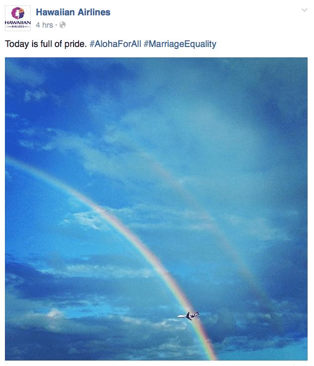 截圖自夏威夷航空臉書