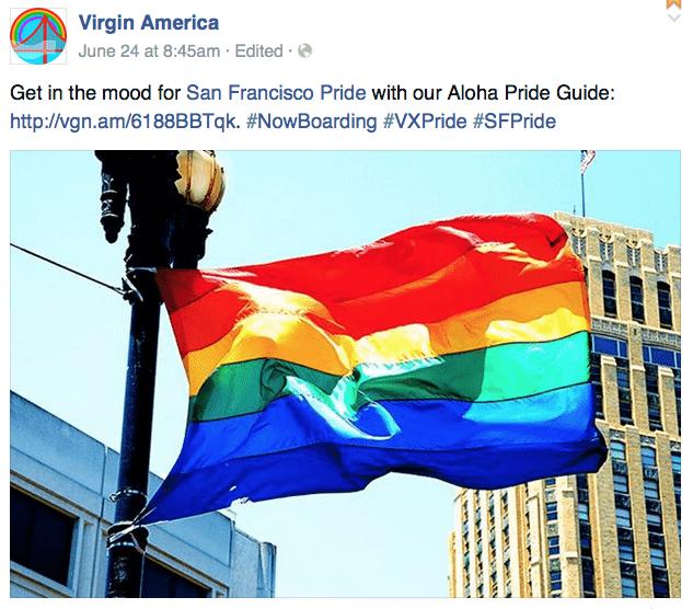 截圖自維京美國航空臉書