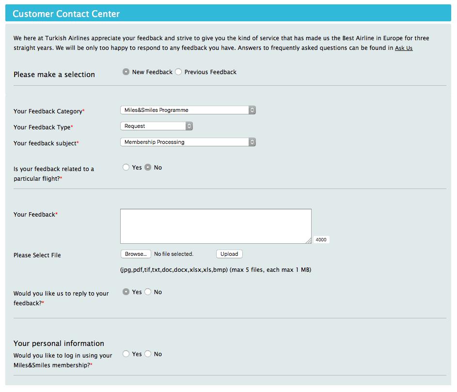 土航線上客服表格,選擇相對應的選項,提出資格配對申請