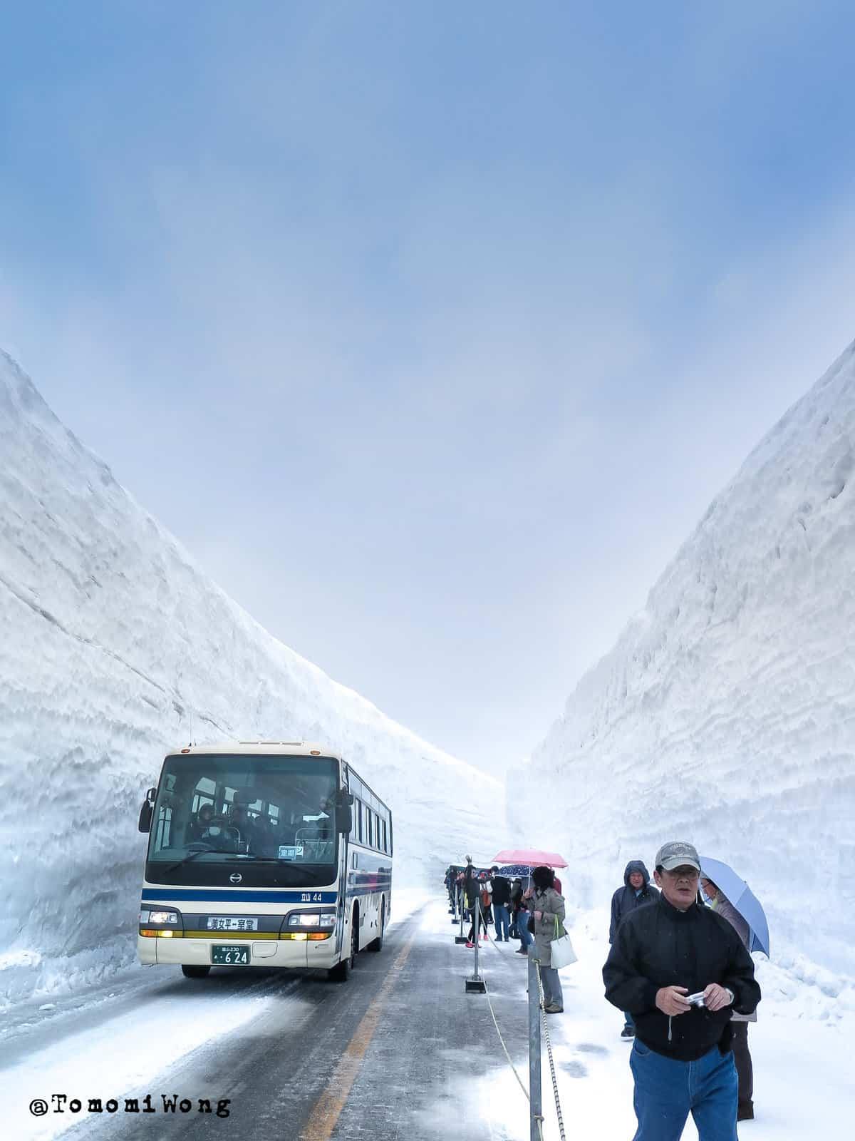 這次 PB 剛好有富山市區的飯店,可以搭配四月開山的黑部立山行程。立山雪の大谷 by Tomomi Wong (CC-BY)