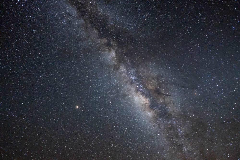 研究生於大島天文台所拍攝的滿天星空(研究生的點數旅行筆記)