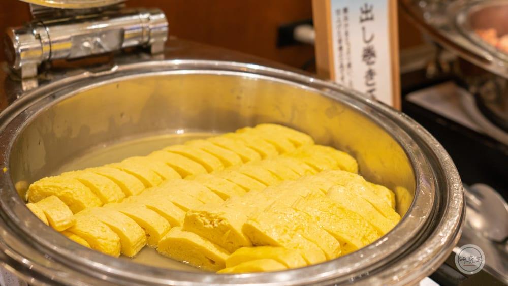 日式蛋捲也是早餐必吃的選擇(有馬溫泉・兵衛向陽閣|研究生)
