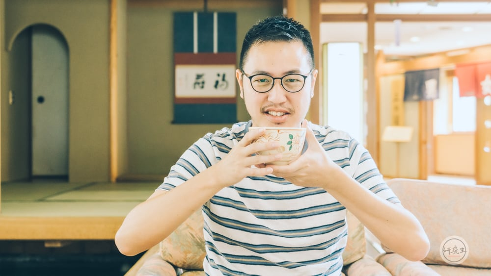 早上泡完溫泉可以來喝杯抹茶配茶點(有馬溫泉・兵衛向陽閣|研究生)
