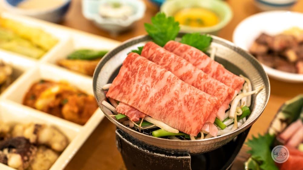 晚餐的主角神戶牛蒸籠料理 好久沒吃到這麼入口即化的牛和牛料理了(有馬溫泉・兵衛向陽閣|研究生)