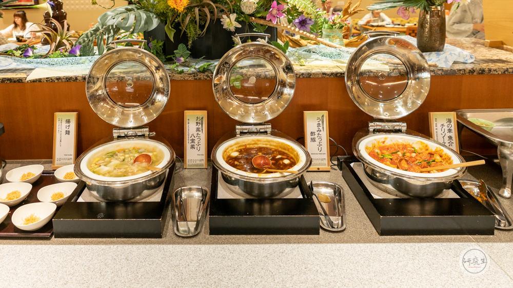 晚餐自助餐也有中式料理區(有馬溫泉・兵衛向陽閣|研究生)