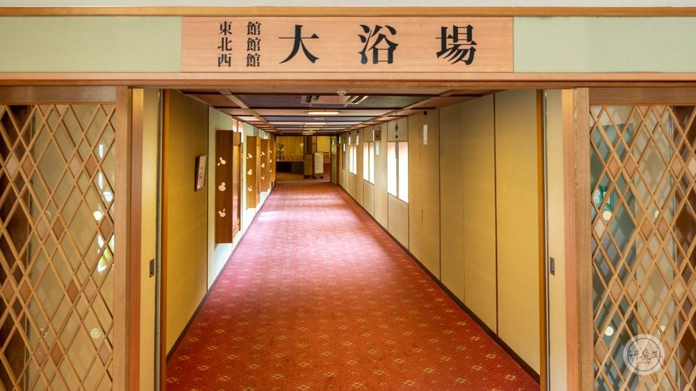長廊連結各棟之間 不過大浴場全部都集中在一區(有馬溫泉・兵衛向陽閣|研究生)